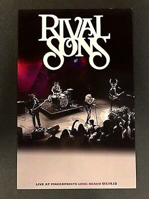 Rival Sons - Live At Fingerprints 3/14/13 Concert Poster LTD Original Press KISS
