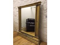 Extra Large Vintage Mirror with beautiful decorations