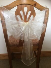 Chair sashes for a wedding venue