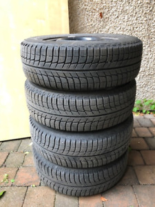15 in. Michelin X-Ice winter tires on rims - low mileage.
