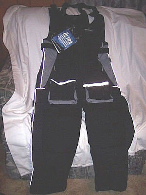 Extreme Cold Weather Bibs Fishing Snowmobile Water Proof Black Bib Overalls Med