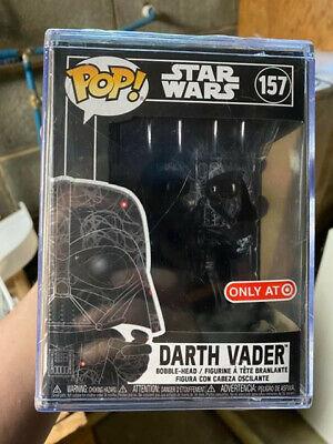 Funko Pop! #157 Star Wars Target Darth Vader Futura Sealed With Stack