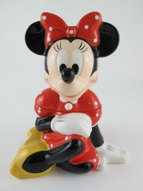 Disney Theme Park Exclusive MINNIE MOUSE Polka Dot Dress Retired RARE Cookie Jar