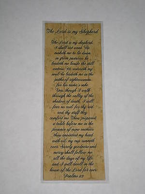 PRIMITIVE THE LORD IS MY SHEPERD PSALMS 23 LAMINATED BOOKMARK - CL