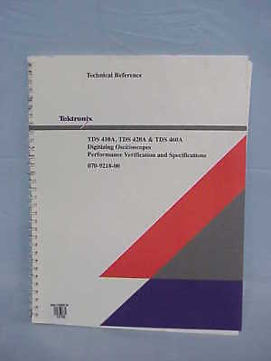 Tektronix Tds 410a 420a 460a Technical Reference