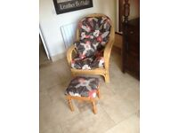 Conservatory chair & footstool