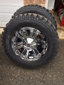 BRAND NEW 35X12.5X20 TIRES AND RIMS PACKAGE