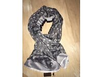 Luxury Louis Vuitton charcoal color Scarf /Shawl - brand new