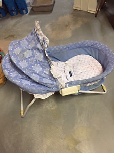 FP Bassinet on a stand