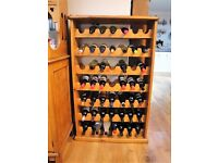 South African Solid Yellowwood Wine Rack, 7x7 Bottles