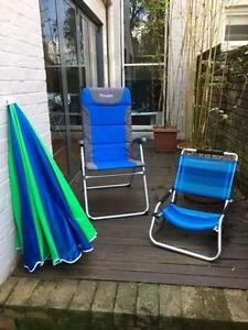Beach chairs and umbrella Petersham Marrickville Area Preview