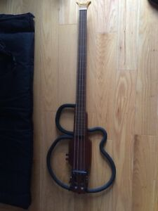 Aria Sinsonido AS-691B Fretless Bass Guitar