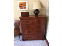 MAHOGANY VICTORIAN CHEST OF DRAWERS