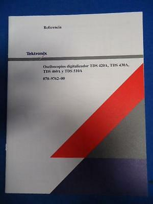 Tektronix Digital Oscilloscope Tds 420a 430a 460a 510a Spanish 070-9762-00