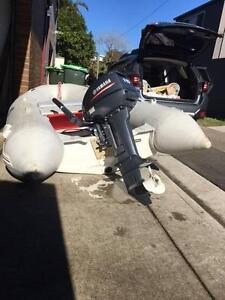 Yamaha 15 hp outboard motor  near new and Inflatable dinghy RIB Queens Park Eastern Suburbs Preview