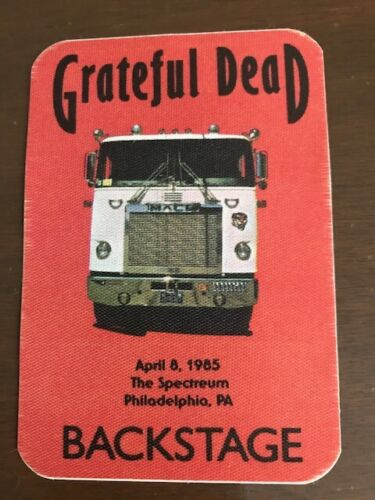 Grateful Dead -backstage pass-Spectrum April 8, 1985-REDUCED PRICE SPECIAL SALE