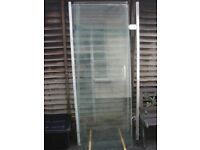 Shower door. 8 mm glass. solid frame, great condition.