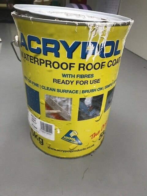 Free remainder of 5kg tin of Acrypol+ white waterproof roof
