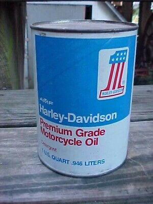 VINTAGE HARLEY DAVIDSON AMF PREMIUM GRADE OIL CAN FULL QUART,# 1 LOGO