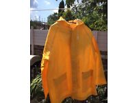 Mens Unisex Waterproof Jacket and Trousers set Yellow Size M