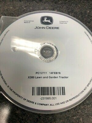 John Deere X380 Parts Catalog Cd
