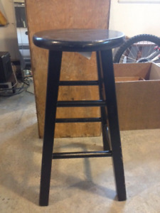 Classic Bar Stool- Black Wooden Stool