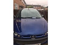 Peugeot 206 GTI for spares or repairs W reg, 2litre engine 78000 miles, had for over 10 years!