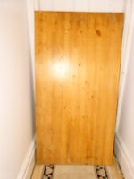Ikea solid pin pine aged table with legs avec supports desk