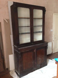 Large Antique Bookcase / Dresser