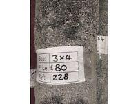 Opulent grey soft touch carpet remnant - 3x4 - £80 - Ref 228