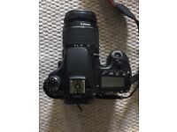 Canon E0S 70D Camera + 2 x lens + Camera Bag + 2 x batteries + Charger