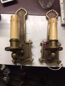Heavy Beautiful Vintage wall sconces for pair