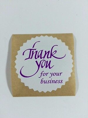 100 Thank You For Your Business 2 Starburst Purple 100 New Stickers Thank You