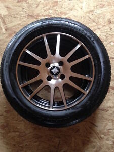 Set of Continental Tires with Core Racing Wheels