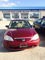 2003 Honda Civic Sdn Certified Ready to go for only $2695+Taxes