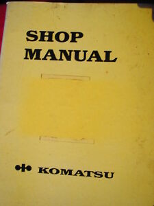 KOMATSU 95 SERIES ENGINE WORKSHOP SERVICE  MANUAL c1992 Dianella Stirling Area Preview