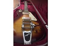 Epiphone Les Paul with Bigsby and Hiscox Hard Case .. inc Fender Amp