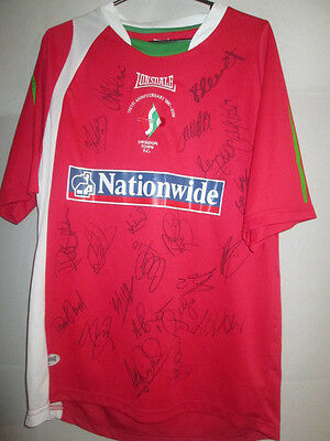 Swindon Town 2006-2007 Squad Signed Home Football Shirt COA /15783 image
