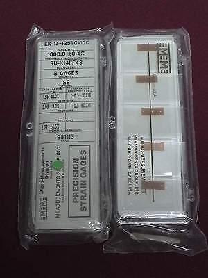 Vishay Micro Measurements Precision Strain Gage Ek-13-125tg-10c 5 Pack Option Se