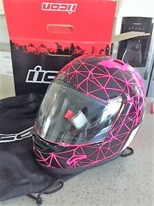 Icon Alliance pink and black brand new women's helmet medium