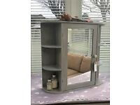 Shabby Chic Bathroom Cabinet in Mink, 3 Shelves, Mirror Door, Wall Mountable