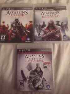 Assassin's Creed PS3: The first 4 games! For sale or trade