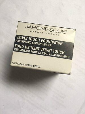 JAPONESQUE VELVET TOUCH FOUNDATION SHADE 03(MEDIUM/ LIGHT)NEW AND BOXED 19g
