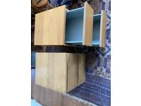 Two bedside cupboards