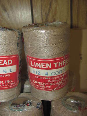 LINEN lacing thread 12-4 cord 4-ply rug braiding weaving twine satin finish 1/2#