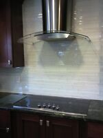Backsplash installation floors shower kitchen