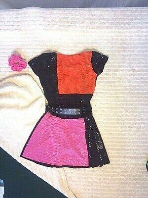Pink And Black Costume (Black, Orange & Pink Youth & Adult Retro Dance)