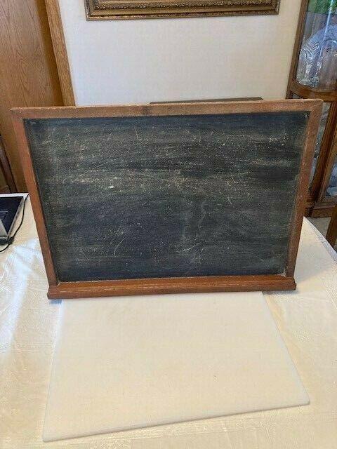 Vintage Antique Wall School Chalkboard. 24 x 18.