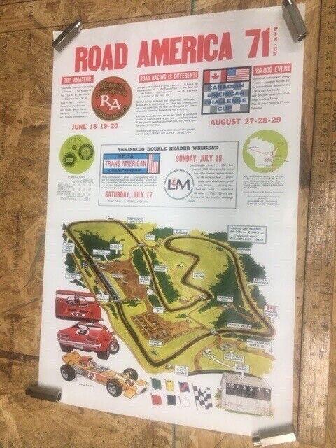 Road America Poster 1971
