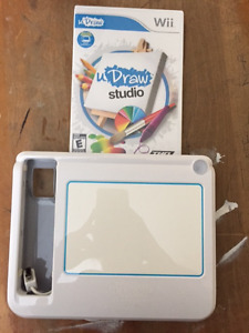 WII U DRAWL WITH GAME AND PAD